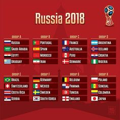 Which is the death group? . Final Draw Russia2018 . #WorldCup #FinalDraw #Russia2018 #Russia #Brasil #Mexico #Germany #England #España #Argentina #Portugal #France #Belgium #Poland #Switzerland . RUS URU EGY KSA  POR ESP MOR IRN  FRA PER DEN AUS  ARG CRO ISL NGA  BRA SUI CRC SER  GER MEX SWE KOR  BEL ENG TUN PAN  POL COL SEN JPN . Source #FIFA . #countries #maps #map #flags #flag #infographic #graphic #travels #sports #football #soccer #ranking #forpix #inforpx . Design @mmcasimiro Follow…