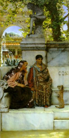 """In the Time of Constantine"", 1878, by Sir Lawrence Alma-Tadema (Dutch, 1836-1912)."