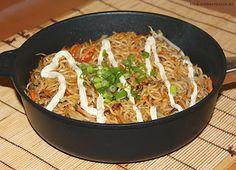 Yakisoba in der Gastrolux Pfanne - kein anbrennen und gute Hitzeverteilung!