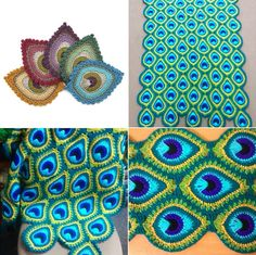 My first free crochet pattern, the French Mini Peacock Feather (you can read why it is called French in my previous post). My first free crochet pattern, the French Mini Peacock Feather (you can read why it is called Crochet Motifs, Crochet Squares, Crochet Blanket Patterns, Crochet Stitches, Knitting Patterns, Crochet Afghans, Crochet Blankets, Crochet Granny, Baby Afghans