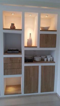 29 Great Eclectic decor Ideas For You This Summer - Home Dekor Minimalist Home Furniture, Minimalist Bedroom, Minimalist Decor, Furniture Plans, Furniture Design, Dining Room Shelves, Recessed Shelves, Art Deco Bedroom, Oak Doors