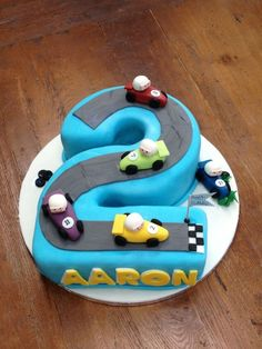 Gateau D'anniversaire Garçon 2 Ans New 80 Idées originales Pour Le Gâteau D A. 2nd Birthday Cake Boy, Birthday Cakes For Women, Cakes For Boys, Baby Cake Pops, Baby Boy Cakes, Number 2 Cakes, Cartoon Cakes, Rodjendanske Torte, Pinterest Cake