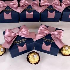 Dusty rose & gold wedding favor box with satin ribbon bow and custom tag, Elegant personalized gift boxes make a unique way to thank guests for attending your special day. #welcomebox #giftbox #personalizedgifts #weddingfavor #weddingbox #weddingfavorideas #bonbonniere #weddingparty #sweetlove #favorboxes #candybox #elegantwedding #partyfavor #giftboxes #goldwedding #uniqueweddingfavors #uniqueweddingideas #dustyrosewedding
