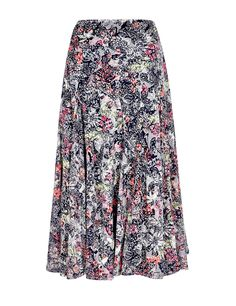 Floral lightweight A-line skirt for spring and summer