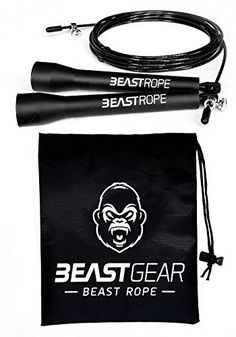 Speed Skipping Rope by Beast Gear for Fitness Conditioning Fat Loss. Ideal for Crossfit Boxing MMA HIIT Interval Training Double Unders Fitness-Outdoors Fitness-Outdoors Gear Shoes-Accessories Fitness-Outdoors 8 Minute Ab Workout, Jump Rope Workout, Hiit Interval Training, Beast, Crossfit Box, Home Workout Equipment, Fitness Equipment, Skipping Rope, Trainer
