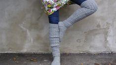 High Socks, Knee Boots, Knit Crochet, Knitting, Pants, Fashion, Trouser Pants, Moda, Thigh High Socks