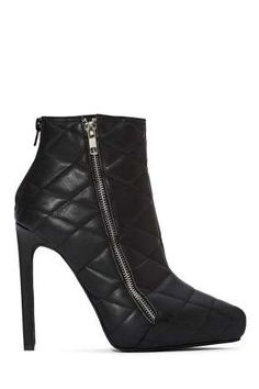 Jeffrey Campbell Gridley Quilted Leather Boot | Shop What's New at Nasty Gal
