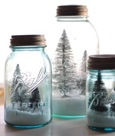 Great Christmas gift idea, my sweet daughter-in-law made me one, I'll keep it always...canning jar snow globe.