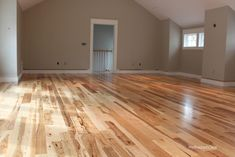 BuildDirect – Unfinished Hickory Flooring  – Hickory - Euro Character - Living Room View