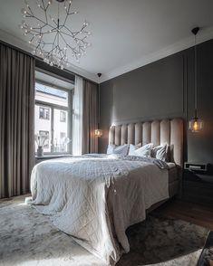 House Of Philia, Master Bedroom, Bedroom Decor, Bedroom Curtains, Room Interior, Interior Design, Home Office Design, Grey Walls, Interior Architecture