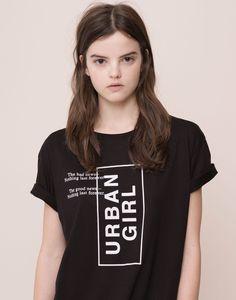 SLOGAN T-SHIRT - T-SHIRTS AND TOPS - WOMAN - PULL&BEAR Indonesia