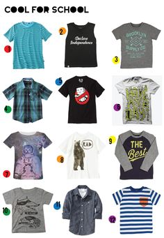 Cool Shirts for boys Back to School