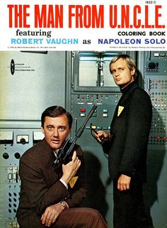 coloring book:  The Man From U.N.C.L.E. by MidCentArc, via Flickr...Loved this TV show! Robert Vaughn was my favorite!