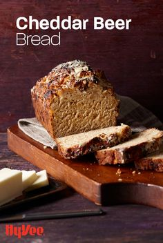 No-knead, no-rise bread made possible with beer, cheddar cheese, and a few other pantry staples. Bread Recipes, Baking Recipes, Beer Bread, Homemade Desserts, Bread Baking, Cheddar Cheese, Seafood Recipes, Baked Goods, Bakery