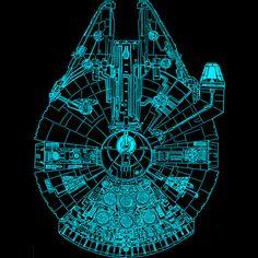 Star Wars Blue Millennium Falcon Shirt