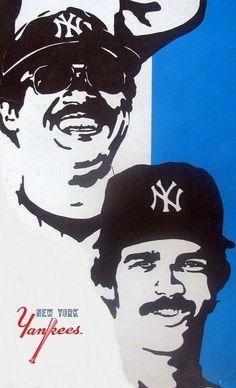 Reggie Jackson & Don Mattingly Reggie Jackson, New York Yankees, Trading Cards, Baseball, Collector Cards