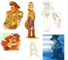 Toy Story doodles by Barukurii