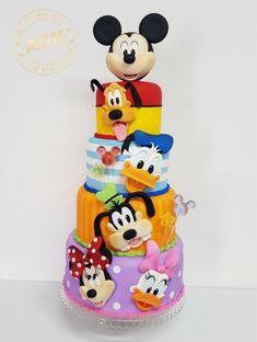 Baby Mickey Mouse Cake, Bolo Da Minnie Mouse, Festa Mickey Baby, Bolo Mickey, Mickey Mouse Clubhouse Birthday Party, Mickey Cakes, 2nd Birthday Cake Boy, Mickey 1st Birthdays, Mickey Mouse Birthday Cake
