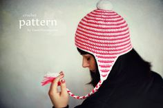 Crochet Pattern Earflap Beanie Pattern No. 053 от ZoomYummy
