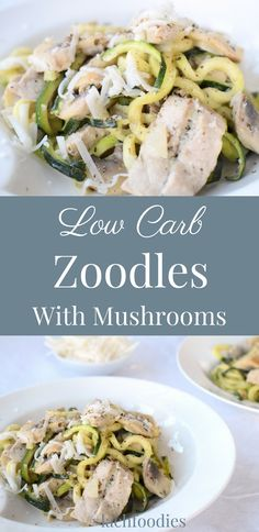 Low carb: Zoodles with mushrooms. Rezept ohne Kohlenhydrate: Gemüsenudeln mit einer cremigen Pilzsauce. ..... low carb, lc, lchf, keto, Mittagessen, lunch, dinner, Abendessen, gesundes Mittagessen, gesundes Abendessen, low carb lunch, Mittagessen ohne Kohlenhydrate, Mittagessen gesundes, Low Carb nudeln, Low carb noodles, gemüsenudeln, rezept zucchininudeln, zoodles recipe, zucchini, zoodles rezept deutsch.