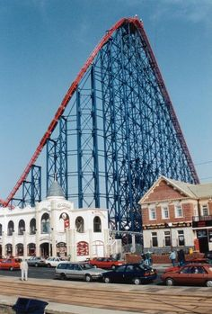 The Big One. Opened 1994, at the time it was the worlds tallest and steepest. Also the fastest in Europe.