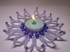 Beaded flower for candles / Perlenblume für Kerzen