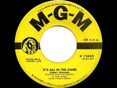 1958 HITS ARCHIVE: It's All In The Game - Tommy Edwards (his original #1 version) - YouTube