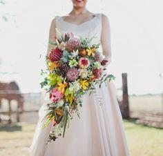 Wedding flowers native australian protea bouquet 68 ideas for 2019 Protea Wedding, Flower Bouquet Wedding, Floral Wedding, Protea Bouquet, Boquet, Wedding Themes, Wedding Styles, Wedding Dresses, Wedding Bouquets