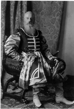 """Grand Duke Mikhail Nikolaevich in Zaporozhye Cossacks Ataman costume for the 1903 ball in the Winter Palace. source """""""