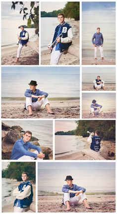 Beach senior boy photos, trumpet, senior band - Memories Captured by Brenda