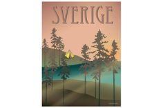 Sweden – Woods Poster