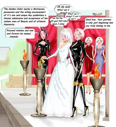 Ultimate vows ~ I see poor Andy as a less willing sissy, but totally on awe of his Aunt and her friends he has little willpower to resist their desires. Transgender Comic, Transgender Captions, Prissy Sissy, Feminize Me, Feminized Boys, Drawn Art, Sissy Maid, Sissy Boys, Sexy Latex