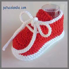 Patucos de ganchillo, tipo deportivos, hechos a mano para bebés,100% Algodón Orgánico para Primavera-Verano