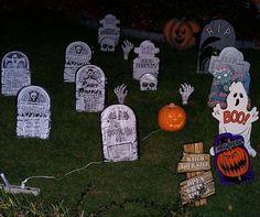 Tombstones - Halloween Party Decorating Ideas