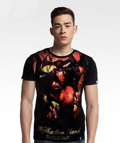 DOTA 2 Shadow Fiend T-shirt Defense of the Ancients Nevermore Hero Tee