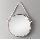 """Iron and Rope Mirror - Pewter RH 20"""" or 24"""" diamter"""