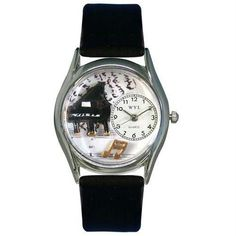 Music Piano Watch Small Silver Style