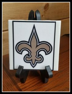 Saints Football Home Decor, Decorative Picture Tiles Ceramic 1 4x4 With  Stand, New Orleans Saints Football Fans Handmade Art Picture Tile