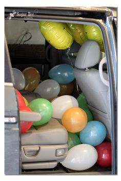 ja ja ja, this is soooo me! last day of school - fill car with balloons to surprise the littles at pick up :D TOO CUTE! Sugar Bee Crafts: Last Day of School Ideas End Of School Year, School Daze, Back To School, School Teacher, School Fun, School Ideas, School's Out For Summer, Summer Fun, Summer Bucket