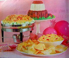 Dessert a la Pietruck by emilyblickem Retro Recipes, Vintage Recipes, Old Recipes, Vintage Food, Vintage Kitchen, Cocktail Party Food, Cocktail Recipes, 1960s Food, 1960s Party
