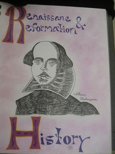 Waldorf ~ 7th grade ~ Renaissance and Reformation Title Page