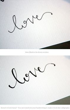 faking calligraphy - not for the purist, but...I have done this too!