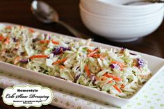 Homemade sweet and tangy Homestyle Cole Slaw Dressing