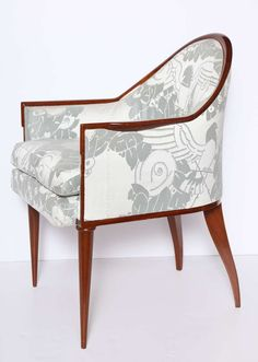 """Fauteuil """"Guinde"""" Fine Early Art Deco Armchair by Emile-Jacques Ruhlmann 