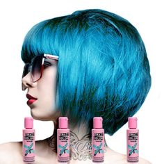 Crazy Color Semi Permanent Hair Color Cream Bubblegum Blue No.63 100ml , 4 Count by Crazy Color -- You can get additional details at the image link. #hairsandstyles