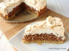 Smak Mojego Domu: Kruche ciasto z jabłkami i bezą