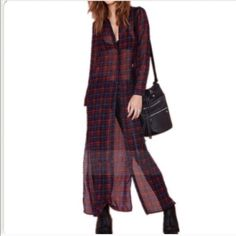 ✴️️Red Retro Plaid Vintage Cardigan✴️ 100% Polyester.️️price is firm Jackets & Coats Blazers