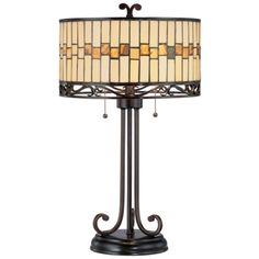 Tiffany Style Dark Bronze Table Lamp - 82675 and more Lifetime Guarantee
