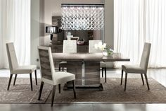 The Monaco Dining Room Set is a truly luxurious collection that emphasizes modern design with bold aspects. #modernfurniture #canalfurniture #alffurniture
