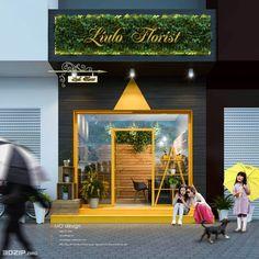 Restaurant Exterior Design, Small Restaurant Design, Deco Restaurant, Cafe Shop Design, Shop Front Design, Store Design, Signage Design, Facade Design, Mobile Shop Design